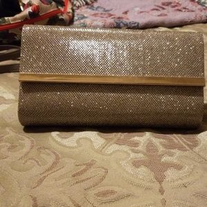 bareMineral Gold Metallic Clutch